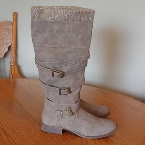 Faux Leather Knee High Boots sz 9